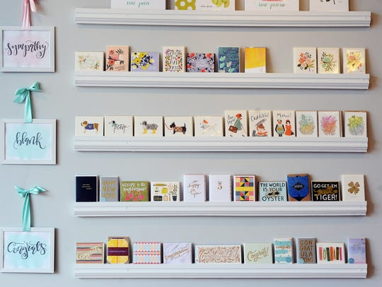 Oh My Word Luxury Paperie sells a variety of cards,