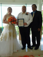 Joey Mesa and Clarise Lowe were wed July 1st at the