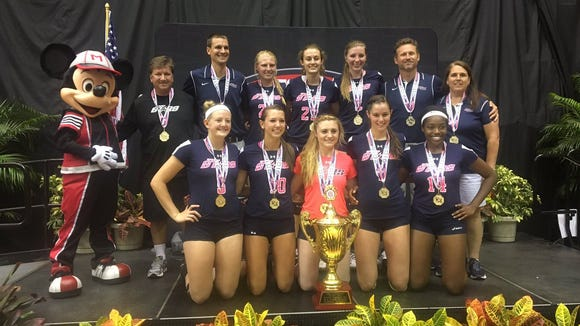 The Upward Stars won the AAU 18 and under national tournament's premier division Sunday in Orlando.