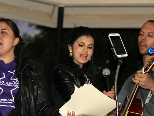 Volunteer musicians performed during the candlelight