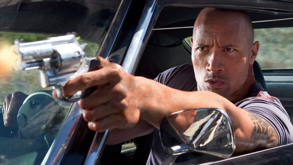 "Dwayne Johnson is on a mission of revenge in ""Faster."""
