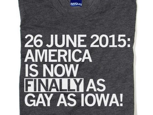Raygun gay marriage shirt