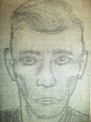 Suspect sketch for the Nov. 17, 1971, slaying of Leonard