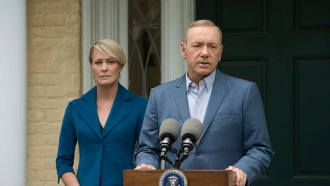 Robin Wright, left, and Kevin Spacey play Claire and Francis Underwood on Netflix's 'House of Cards.'