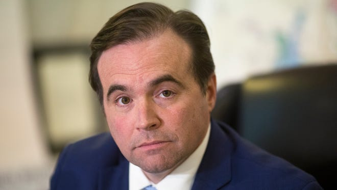 Cincinnati Mayor John Cranley holds a press conference Wednesday after council voted to not to approve the severance package for City Manager Harry Black.