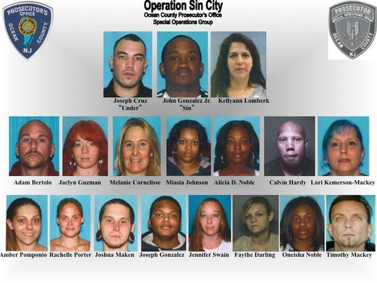 Mugshots of those arrested in Operation Sin City.