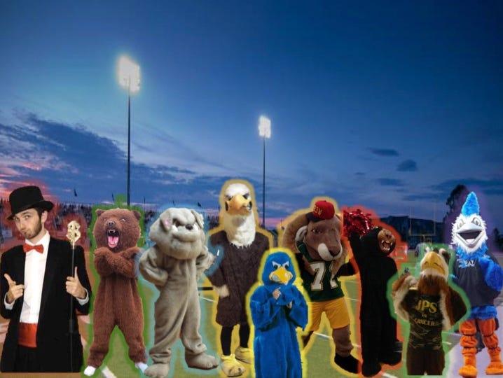 Snapple Bowl mascots