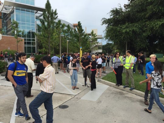 Students and faculty were evacuated from the Physical