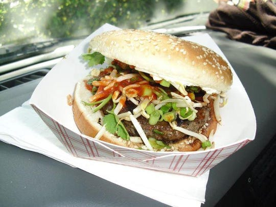 The Pad Thai burger from Nosh Truck