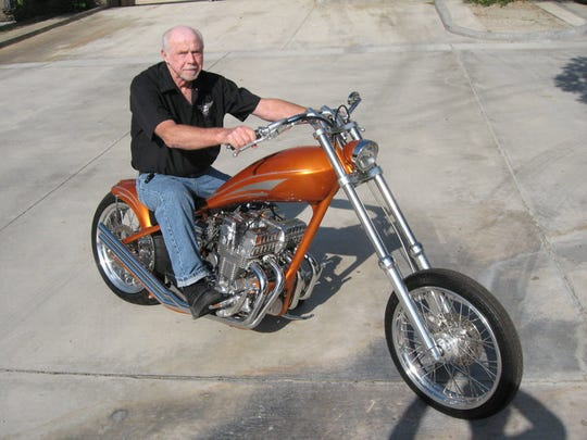 Former Desert Hot Springs councilman Doug Sherman, who died last week. Sherman loved Harley-Davidson motorcycles and old cars.