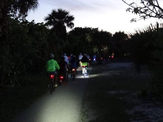 Make sure you have the right equipment for your ride. If riding in the gloom, for example, have lights handy.