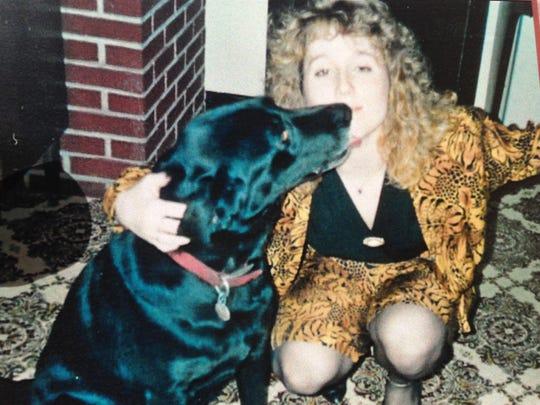 Teresa and her dog Dukie