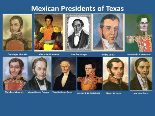 The Mexican presidents of Texas.