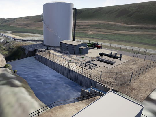 A UCOR rendering shows the Outfall 200 Mercury Treatment Facility.