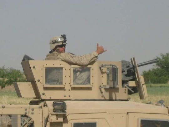 Eric Schwartz, seen here during one of his deployments