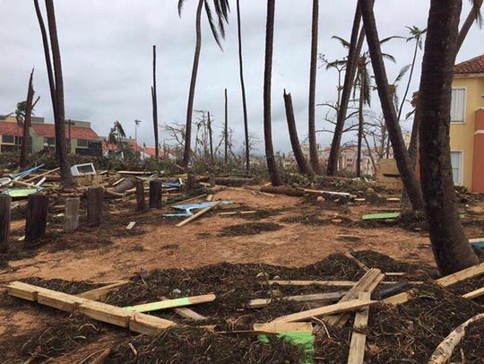 Devastation from Hurricane Maria near San Juan, Puerto
