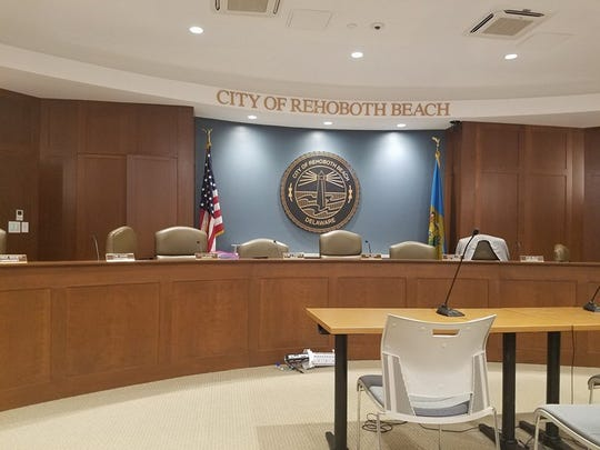 The Rehoboth Beach Commissioners Chamber.