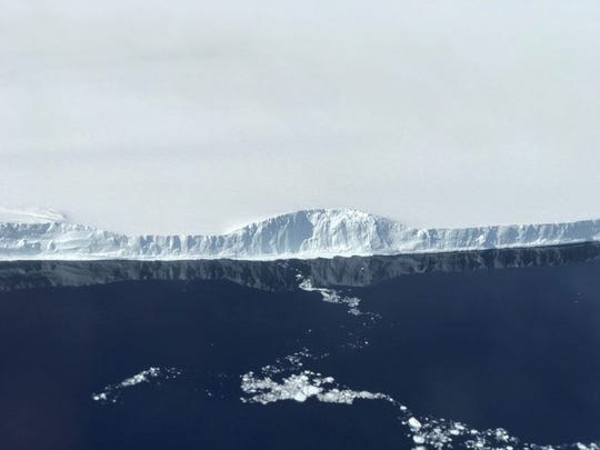 NASA scientists took this shot of the edge of the iceberg