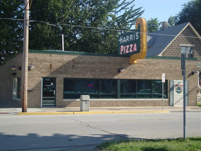 The original location of Harris Pizza opened in 1960