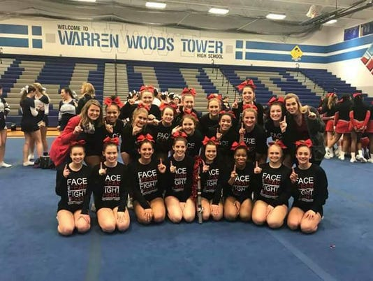 Port Huron High varsity cheer