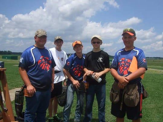 Club members: Jacob Keeler, Cory Quick, Drew Barnes, Clay Hamilton and MItchell Bair-Pollard.