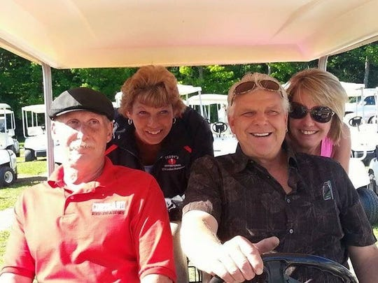 From left: Brian Barker, Donna Barker, Ray Juriga and Patty Juriga loved to golf together.
