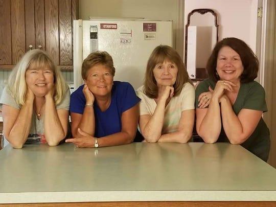 From left: sisters Eileen Holliday, Debbie Zeitz, Nancy
