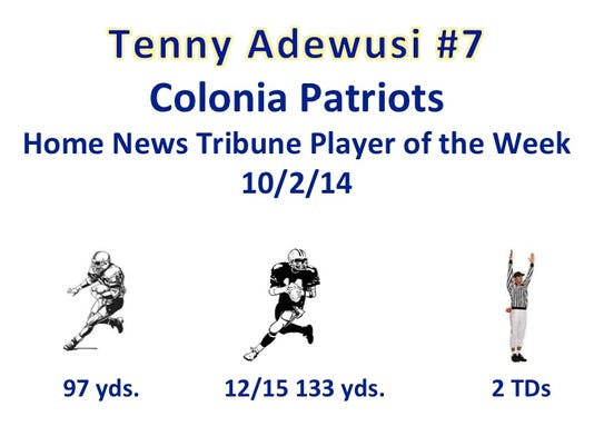 Tenny Adewusi, GMC Football Player of the Week