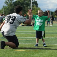Growing by leaps and bounds: Sunshine's football clinic and kid who spearheaded it