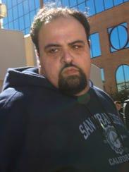 Michael Annabi, of Santa Teresa, N.M., is escorted to the El Paso County Jail on January 2017.