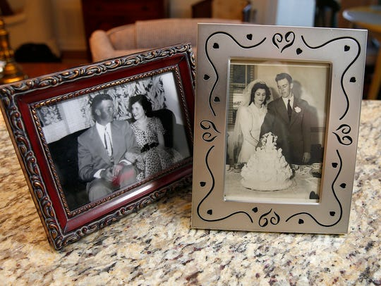 Verne and Alberta Roszel are shown in photos in their