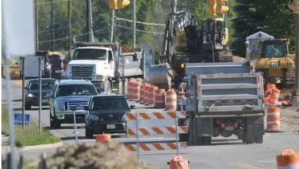 Trimble Road between Marion Avenue Road and Cook Road will re-open Thursday according to Mansfield Mayor Tim Theaker. This News Journal photo was taken in May.