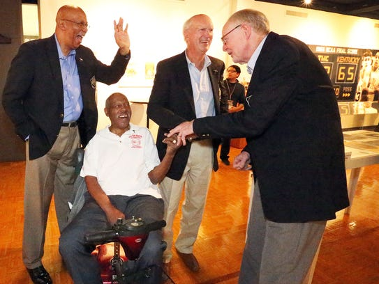 Members of the 1966 Texas Western College basketball