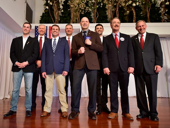 Candidates for 13th Congressional District pose for
