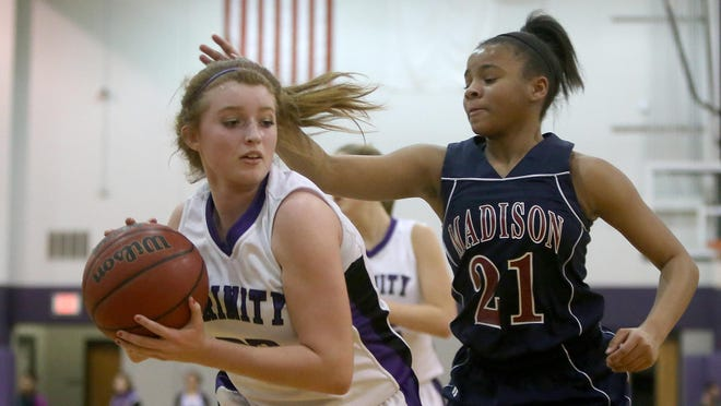 Trinity Christian Academy's Savannah Beaton (23) and the Lady Lions travel to Scotts Hill on Friday.