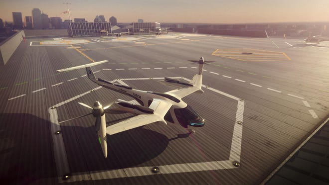 """Skorup writes: """"To develop the precision to use flying taxis safely, innovators are working within the aerospace industry today."""""""