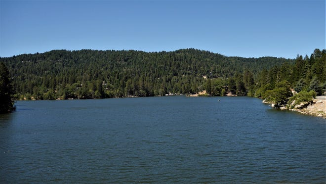 Lake Gregory, blue and inviting.