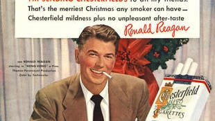 Decades ago, celebrities like future President Ronald Reagan shilled for brands like Chesterfield. Today, taxes lead to blackmarkets in smokes, a study finds.