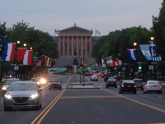 The Philadelphia Museum of Art is at one end of the