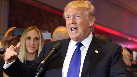 Republican presidential candidate Donald Trump met