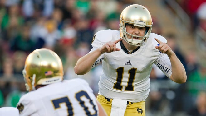 The final game of Notre Dame quarterback Tommy Rees' college career will come in the Pinstripe Bowl on Dec. 28.