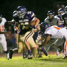 Queen Creek's Weston Barlow rushed 22 times for 168 yards and four touchdowns in three quarters in a 43-0 victory over a Poston Butte team that was trying to stop the run.