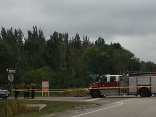 Pine Island Road was shut down Monday due to a fatal crash near Nott Road.
