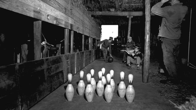 Steinke's bowling alley on the farm in rural Cascade.