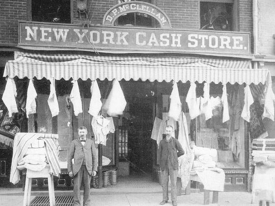 The New York Cash Store, Morristown, circa 1890.