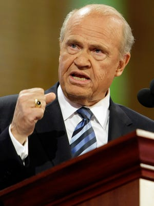 Former Sen. Fred Thompson, of Tennessee, speaks during the Republican National Convention in St. Paul, Minn., on Sept. 2, 2008.