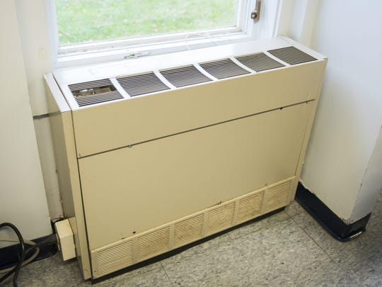 Each classroom in Huntington's Brewster-Pierce Memorial School is kept warm with the help of a heating and ventilation unit.