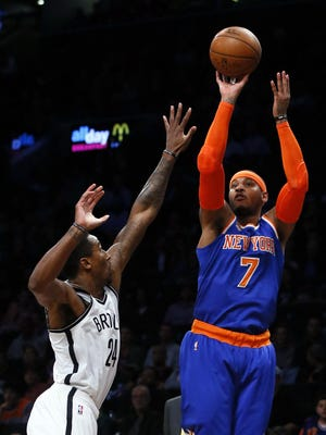 Knicks forward Carmelo Anthony will have help on the court this season with the acquisition of guard Derrick Rose.