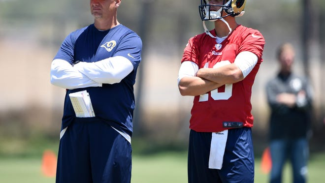 Alabama offensive analyst Chris Weinke was recently the quarterbacks coach for the Los Angeles Rams.