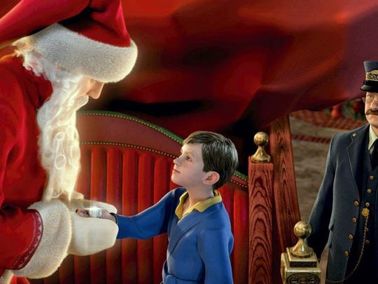 """""""The Polar Express,"""" a holiday-themed film based on the classic children's book written by Chris Van Allsburg and starring Tom Hanks, will be shown as part of Winterfest on Saturday at the Saenger Theatre and each Saturday and Sunday through Dec. 23 at the National Naval Aviation Museum."""